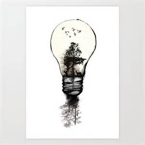 Ink Drawing Light Bulb