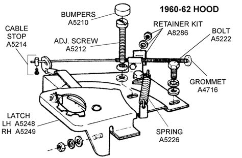 Car Latch Diagram by 1960 62 Latch Diagram View Chicago Corvette Supply