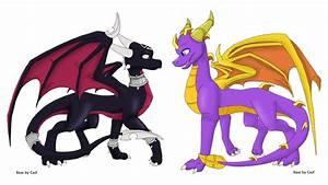 Cynder and Spyro -colored- by ArcticHero on DeviantArt