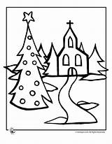 Coloring Church Christmas Pages Print Christian Activities Drawing Printable Tree Books Evergreen Printer Send Button Special Only sketch template