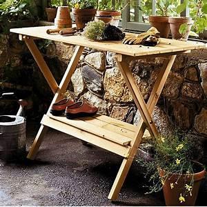 Indoor, Outdoor, Wood, Potting, Bench, Garden, Table, With, Lower, Shelf