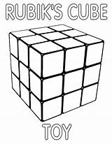Cube Coloring Rubiks Pages Rubik sketch template