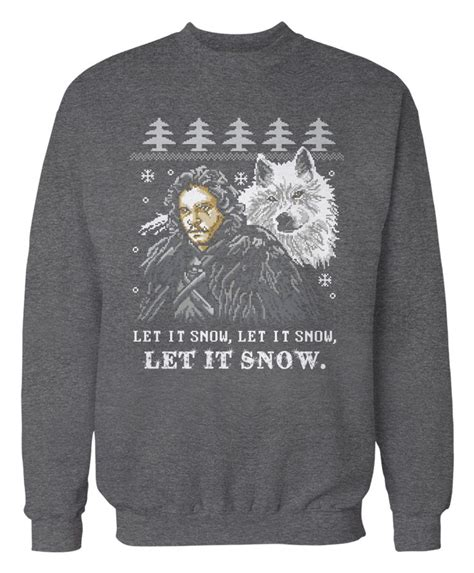 of thrones sweater quot let it of thrones tv apparel the