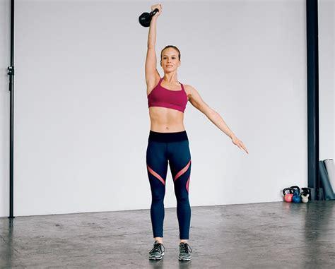 kettlebell press beginners workout fat belly push lose