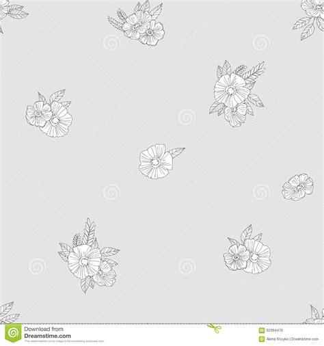 zwart witte bloemen vector illustratie illustratie bestaande uit 62394476