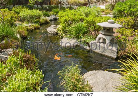 japanese garden with japanese symbol and lantern in