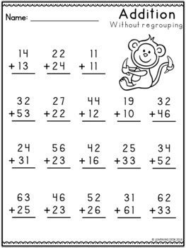digit addition  regrouping worksheets  learning