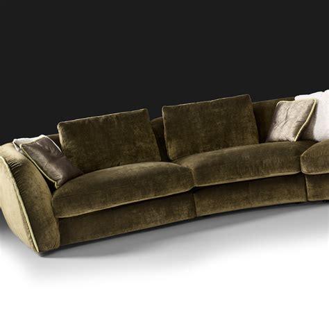 curved sofas curved designer velvet modular sofa