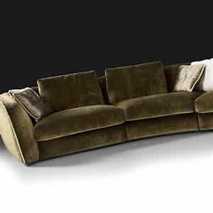 Curved designer velvet modular sofa for Curved sectional sofa amazon