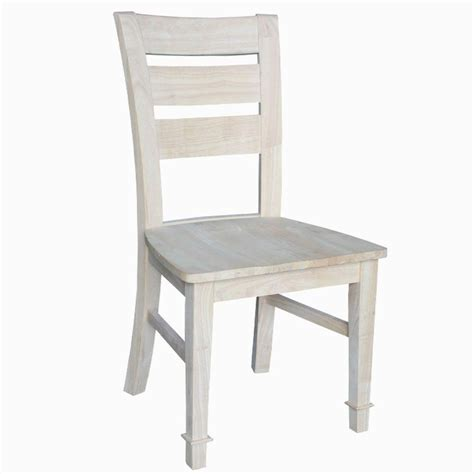 international concepts tuscany unfinished wood side chair