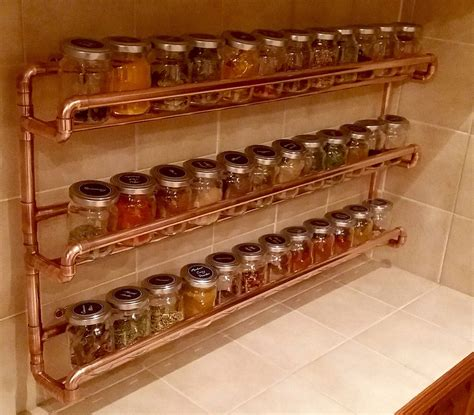 In Wall Spice Rack by Pin By Decorum Detroit On King House Diy Pipe Shelves