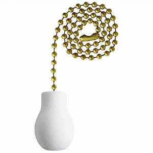 Westinghouse White Wooden Knob Pull Chain-7701400