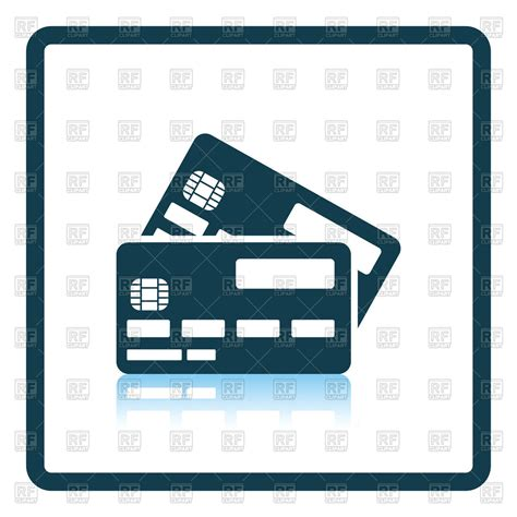 Credit Card Clipart Credit Card With Chip Icon Royalty Free Vector Clip