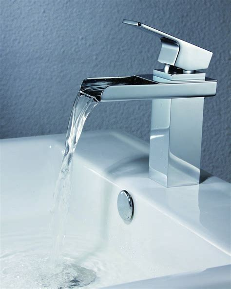 Bathroom Sink Fixtures by Sumerian S1221cw Waterfall Lavatory Faucet Fixture