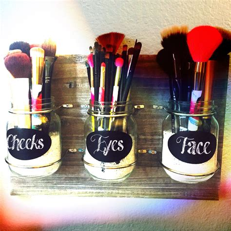 Mason Jar Makeup Brush Holder Beauty Diy Makeup Brush