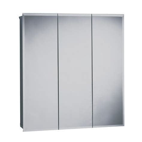 zenith products m30 beveled tri view medicine cabinet