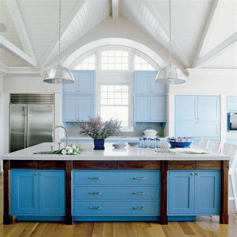 white coastal kitchen using color in the kitchen coastal living 1015
