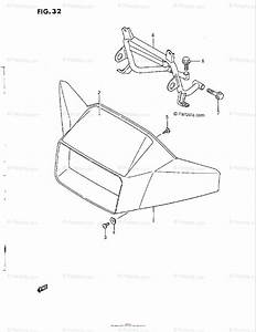 Suzuki Atv 1986 Oem Parts Diagram For Headlamp Housing