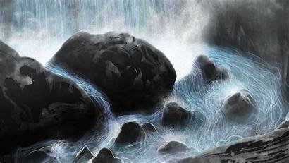 Projection Mapping Water Digital Waterfall Vortex Particles