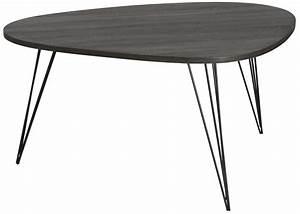 Table Bois Et Noir : table basse metal et bois awesome table basse metal et ~ Dailycaller-alerts.com Idées de Décoration