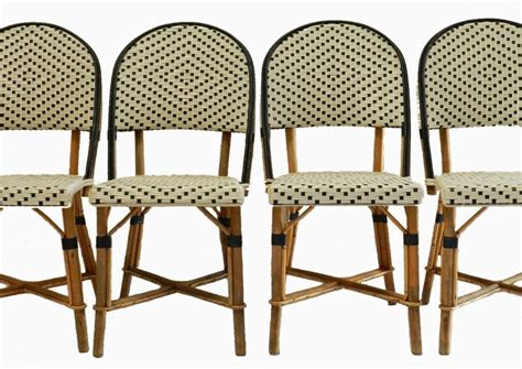 4 bistro chairs woven maison gatti rattan
