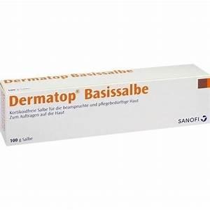 Versandapotheke Auf Rechnung : dermatop basissalbe 100 g salbe sanofi aventis deutschland gmbh in online apotheke ~ Themetempest.com Abrechnung