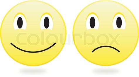 cartoon yellow smiley balls mit vektorgrafik colourbox