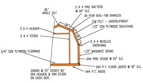6 x 8 gambrel shed plans 8 215 8 gambrel storage shed plans for building a lasting