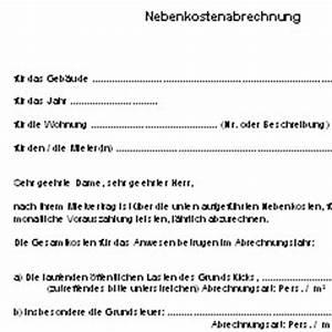 Ordnungsgemäße Rechnung Muster : nebenkostenabrechnung deutsche anwaltshotline ~ Themetempest.com Abrechnung