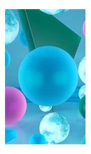 3D Shapes Blue Purple Geometric Balls HD Abstract ...