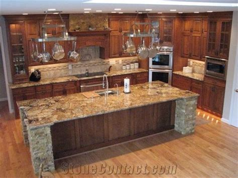 golden persa granite kitchen countertop golden persa