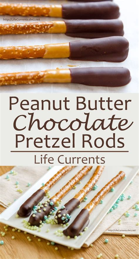 Chocolate Peanut Butter Pretzel Rods for choctoberfest ...