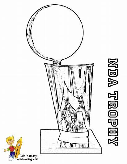 Basketball Trophy Coloring Nba Pages Sheets Cavaliers