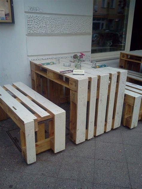 Tisch Aus Europaletten Selber Bauen by Diy Europalette Tisch Bank Diy In 2019 Palettenm 246 Bel
