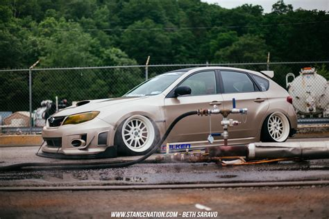 slammed subaru grounded ian galvez 39 s sti hatch stancenation