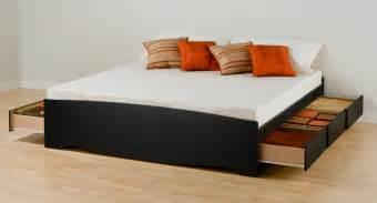 Mor Furniture Sofa Chaise by Prepac Black Eastern King Platform Storage Bed 6 Drawers