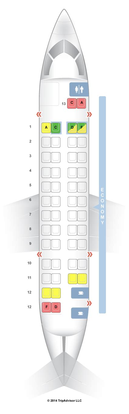 reserver siege air canada seatguru seat map air canada de havilland dash 8 300