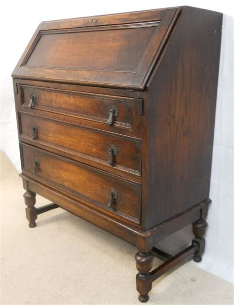 oak writing bureau uk jacobean style oak writing desk bureau 174778