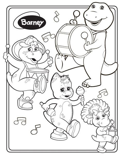 barney coloring pages free coloring pages of barney and friends