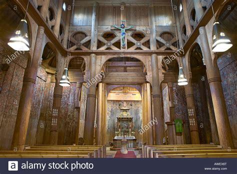 Interior View Of Heddal Stave Church (heddal Stavkirke