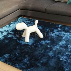 Tapis Bleu Petrole : tapis bleu shaggy par inspiration luxe editions ~ Teatrodelosmanantiales.com Idées de Décoration