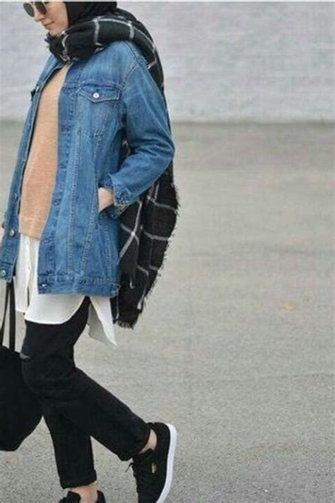 How to Wear Denim Jackets for a Cool Hijab Style