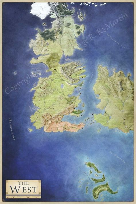 lands  ice  fire  maps  game  thrones