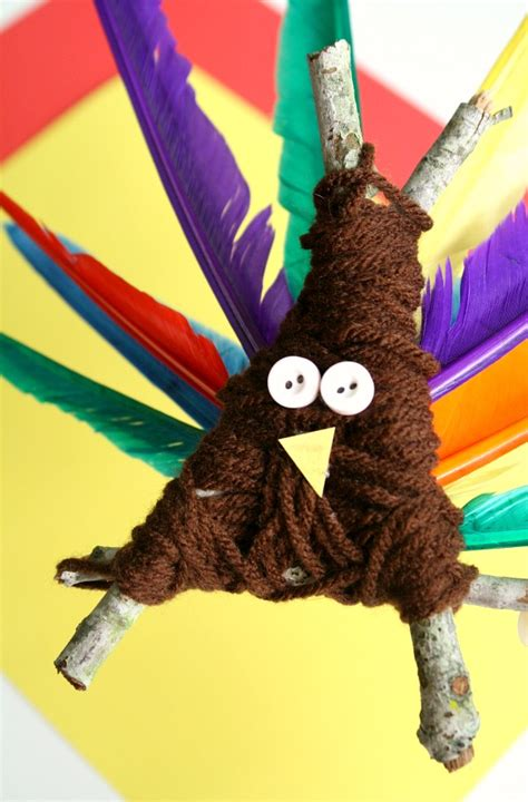 yarn wrapped turkey thanksgiving craft fantastic 854 | Yarn Wrapped Thanksgiving Turkey Craft for Preschoolers