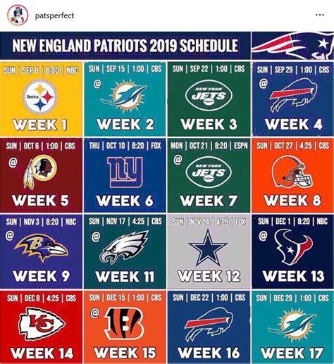 patriots  schedule  atpatsperfect good morning
