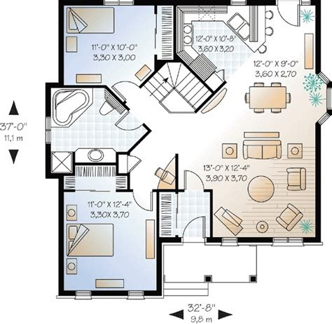 2 bedroom house plan great modern style small two bedroom house plans design ideas