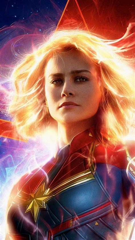 Hd Wallpaper For Mobile Marvel by Brie Larson In As Captain Marvel 2019 Wallpapers