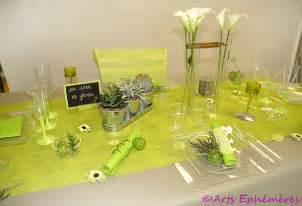nappe mariage table de mariage colorée en vert et blanc