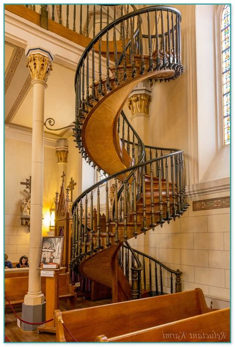 santa fe catholic church spiral staircase
