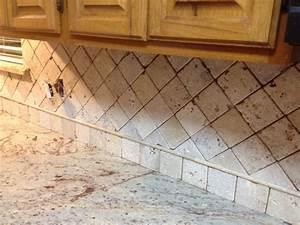4x4 natural stone travertine backsplash with 1quot pencil for 4x4 travertine tile backsplash